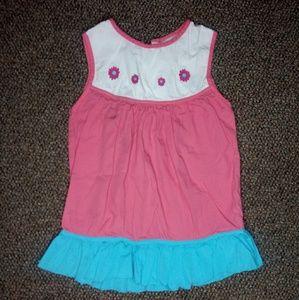 Pink Flower Dress 4t